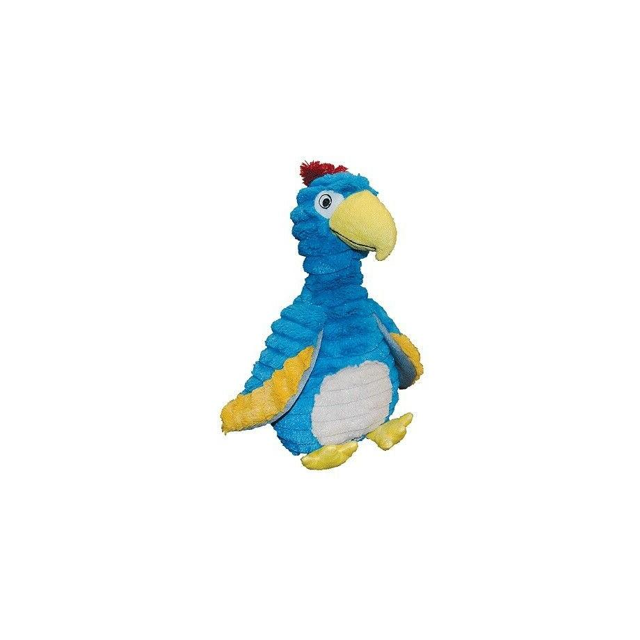 Feathered Friends Dodo the Bird for Dog Toy Vibrant blue puf