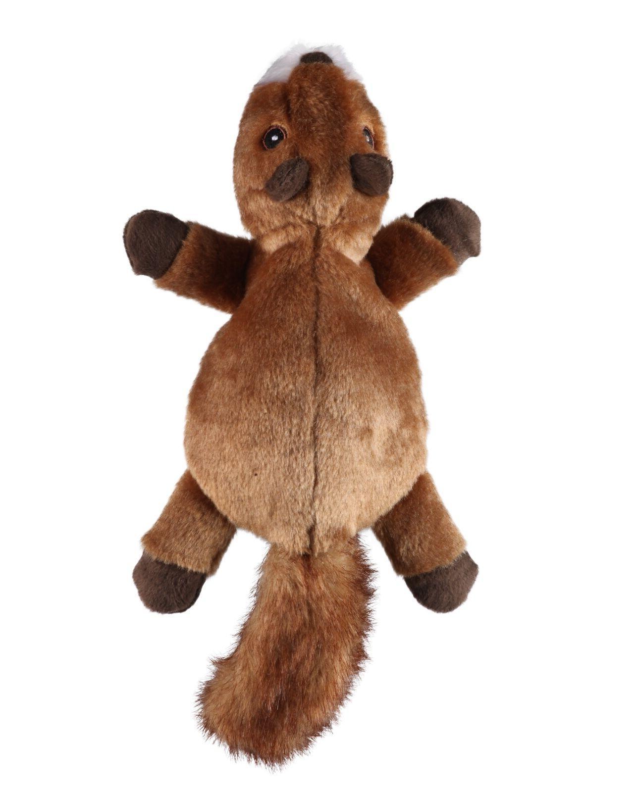 GoDog Flatz Dog Toys, Choose from: Skunk, Squirrel, Opossum