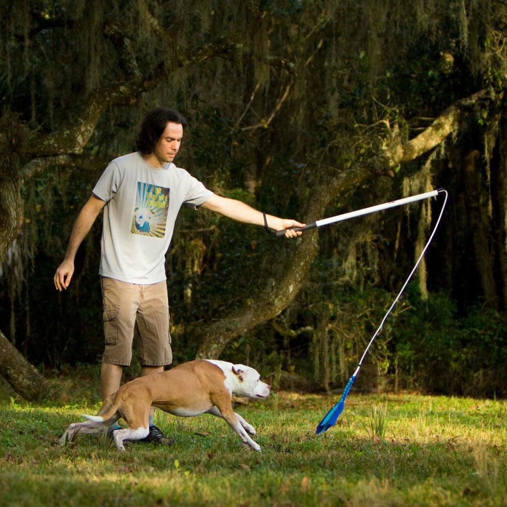 Flirt Dog Exercise Toy w/ braided Fleece -