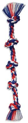 Flossy Chews Cottonblend Color 5-Knot Rope Tug, Super X-Larg