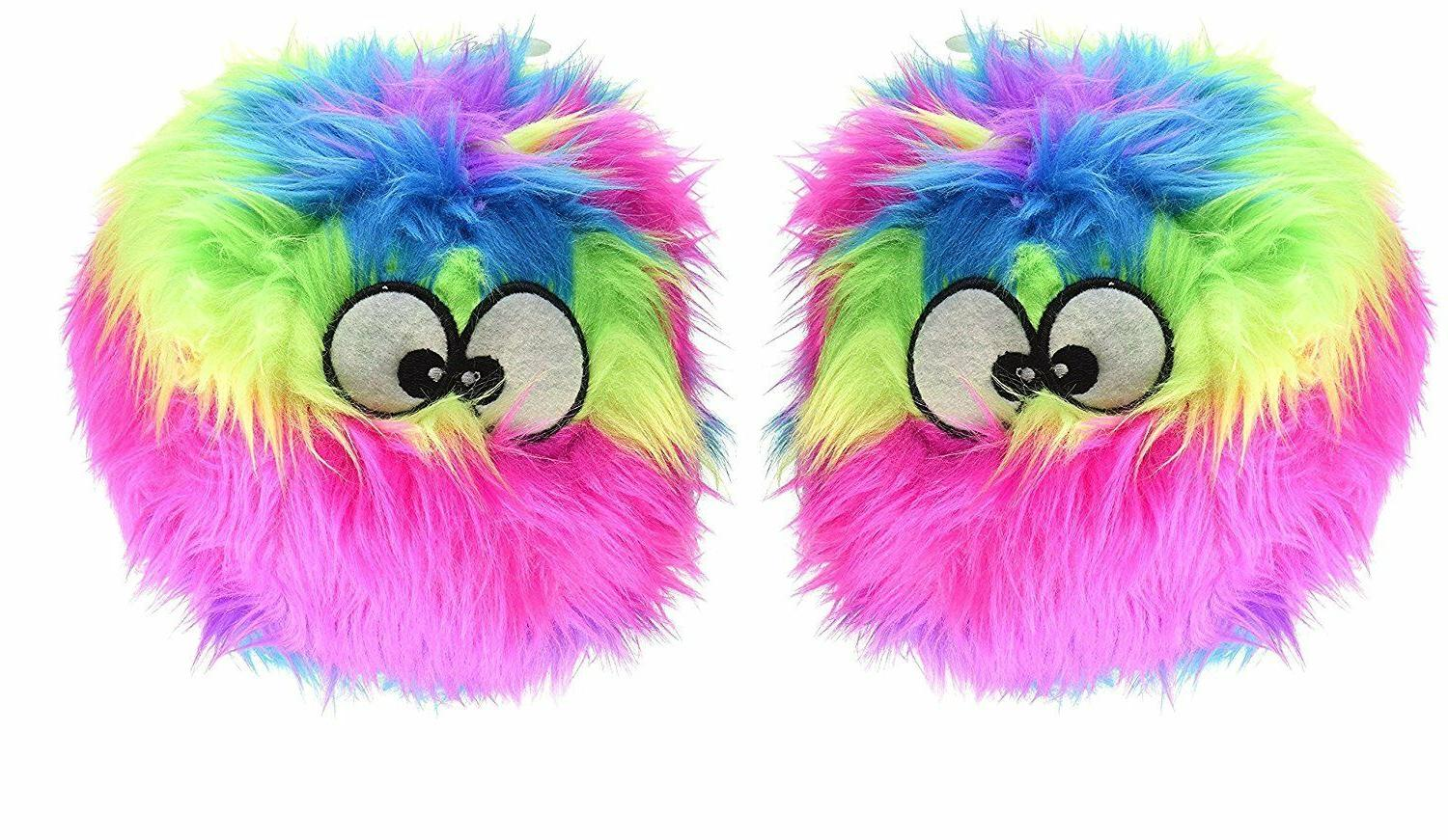 furballz chew guard dog toy rainbow free