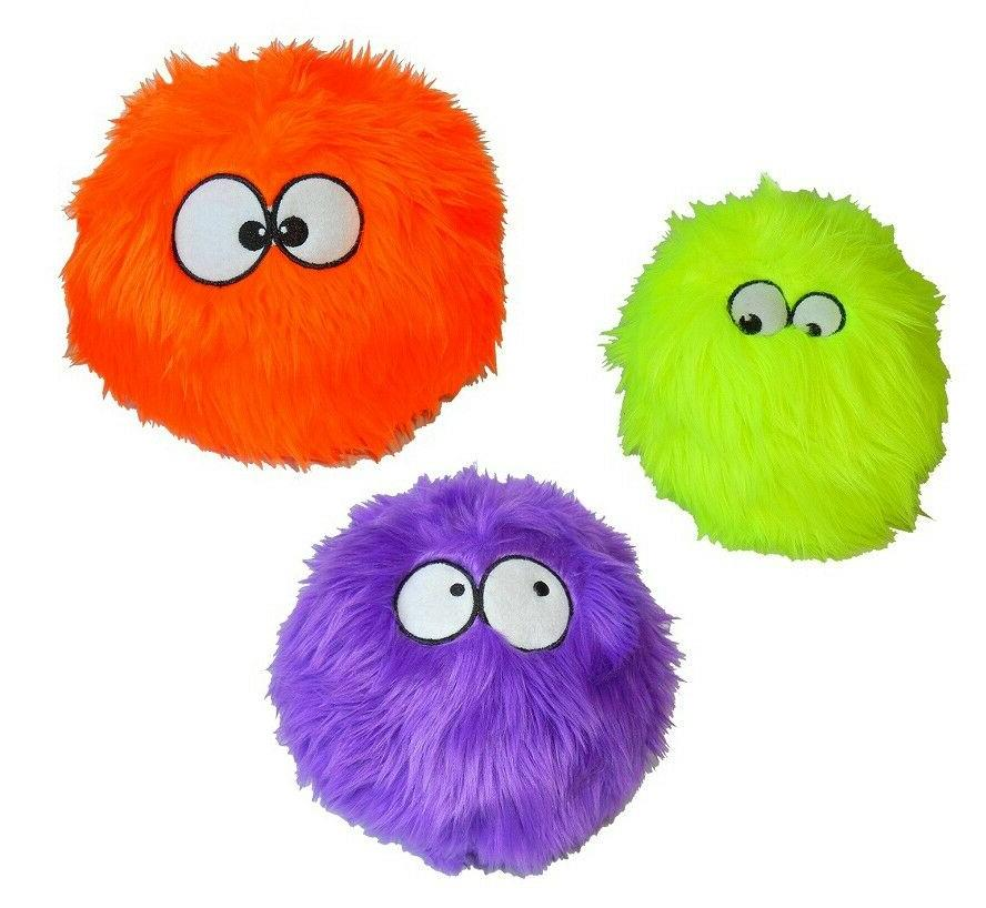 GoDog Furballz Dog Toys: Choose from Purple, Orange, Lime, R