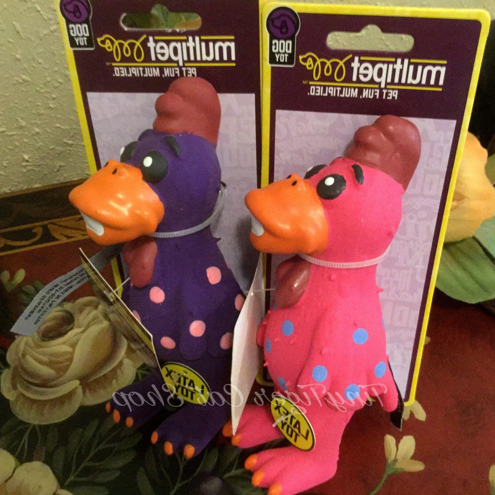 "Multipet globkens chicken squeaker Dog Toy mini 5.6"" globken"