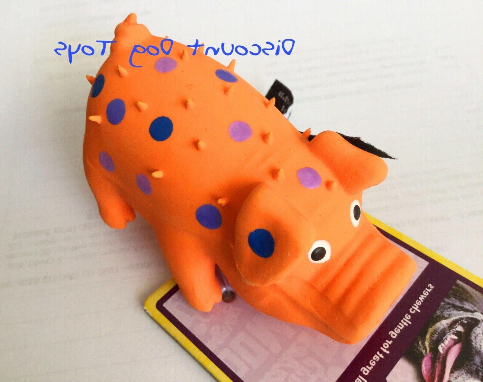 Multipet Globlet Pig Squeaker Dog Toy Globlets Pigs 4 inch M