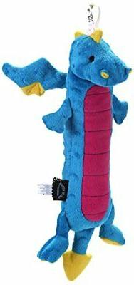 GODOG SHERPA SKINNY DRAGON SMALL CHEW GUARD TOY PLUSH. FREE
