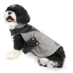 Grey & Black Tacoma Waterproof Dog Coat - Large