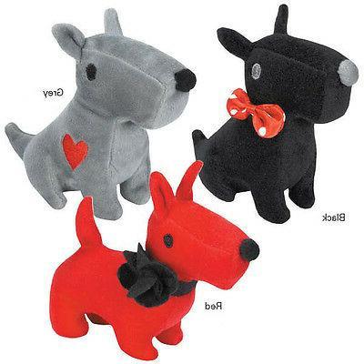Grriggles Sweetheart Scotties Dog Toys Pet Plush Toy Red Bla