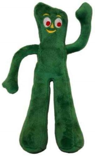 gumby plush filled dog toy