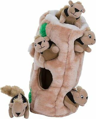 Outward Hound Hide-A-Squirrel Puzzle Plush Dog - and Activ