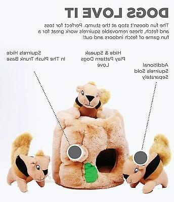 Outward Hide-A-Squirrel Squeaky Puzzle Dog - Hide and Seek Activ