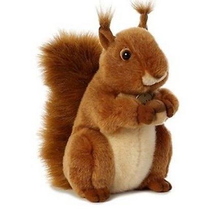 inch miyoni red squirrel plush