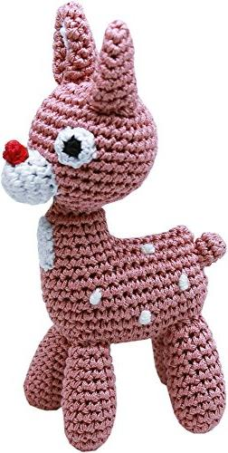 Mirage Pet Products Knit Knacks Rudy The Reindeer Organic Co