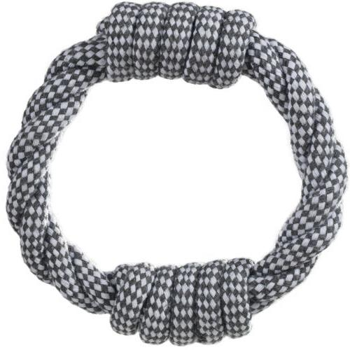 Knitted Dog Rope Braided Chew Tug-Pull Fetch Play