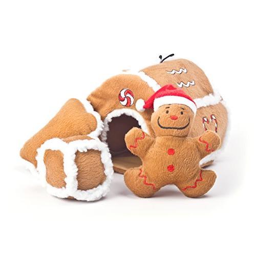 kyjen 31021 gingerbread house squeaking