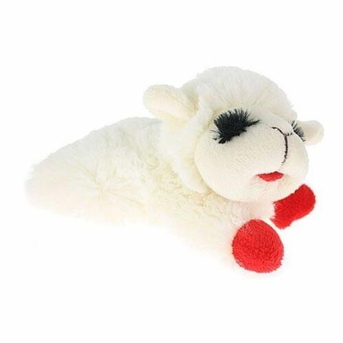 lamb chop pet squeaker plush dog toy