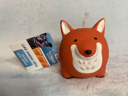 Multipet Latex Animal Ball Dog Toy:Fox,Cat