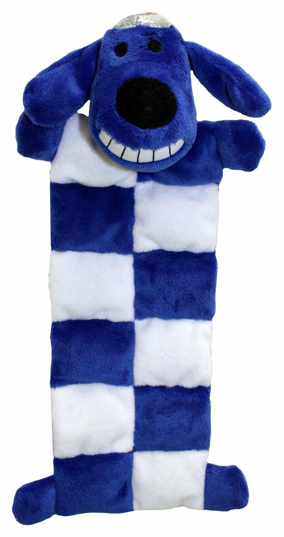 Multipet Loofa Hanukkah Squeaker Mat Dog Toy, 12-Inch