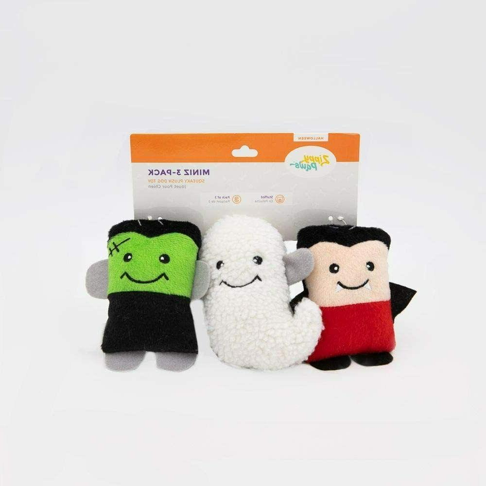 miniz halloween monster 3 pack dog toys