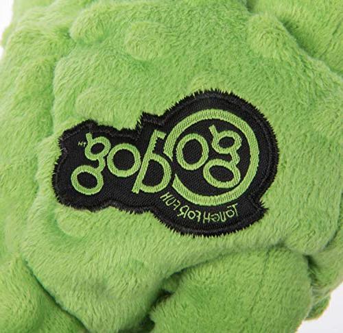 goDog Crazy Tugs Monkeys with Chew Tough Plush Dog Toy, Large