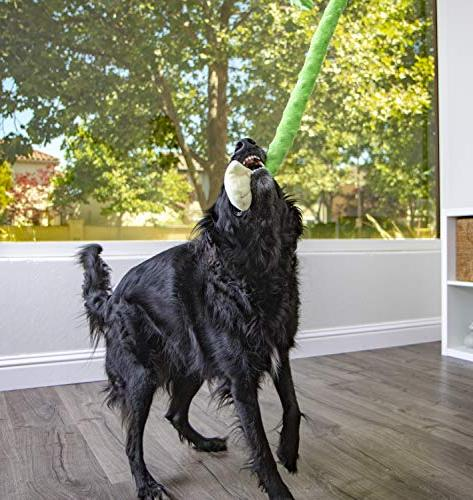 goDog Crazy Tugs with Chew Guard Plush Large