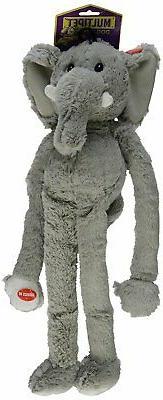 MultiPet 22371 Swingin Safari Elephant Plush Toy