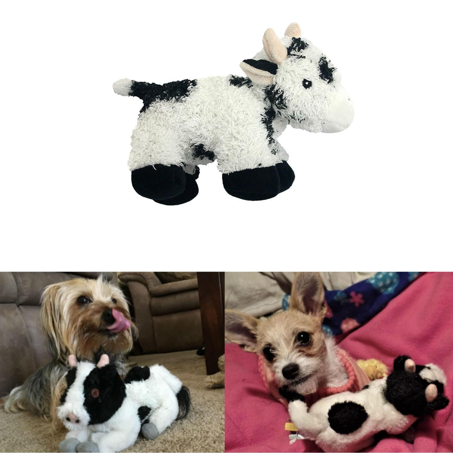 multipet look whos talking cow dog toy