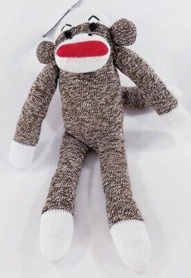 multipet sock monkey sock pals squeaker dog