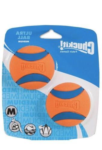 new 2 pack chuckit ultra dog ball