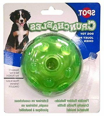 new ethical pets crunchable ball dog toy