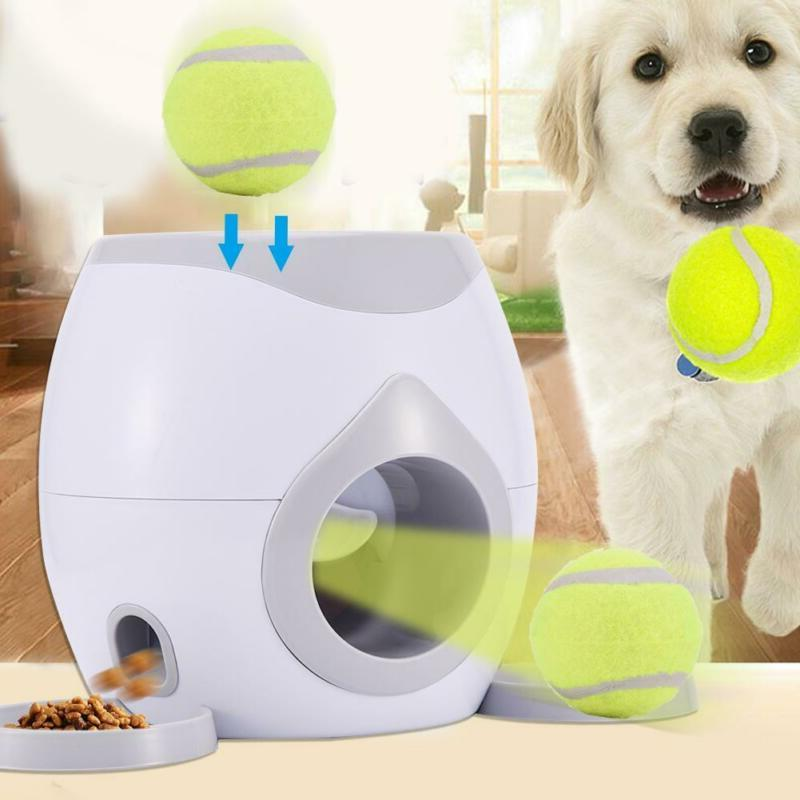 new pet ball launcher toy automatic interactive