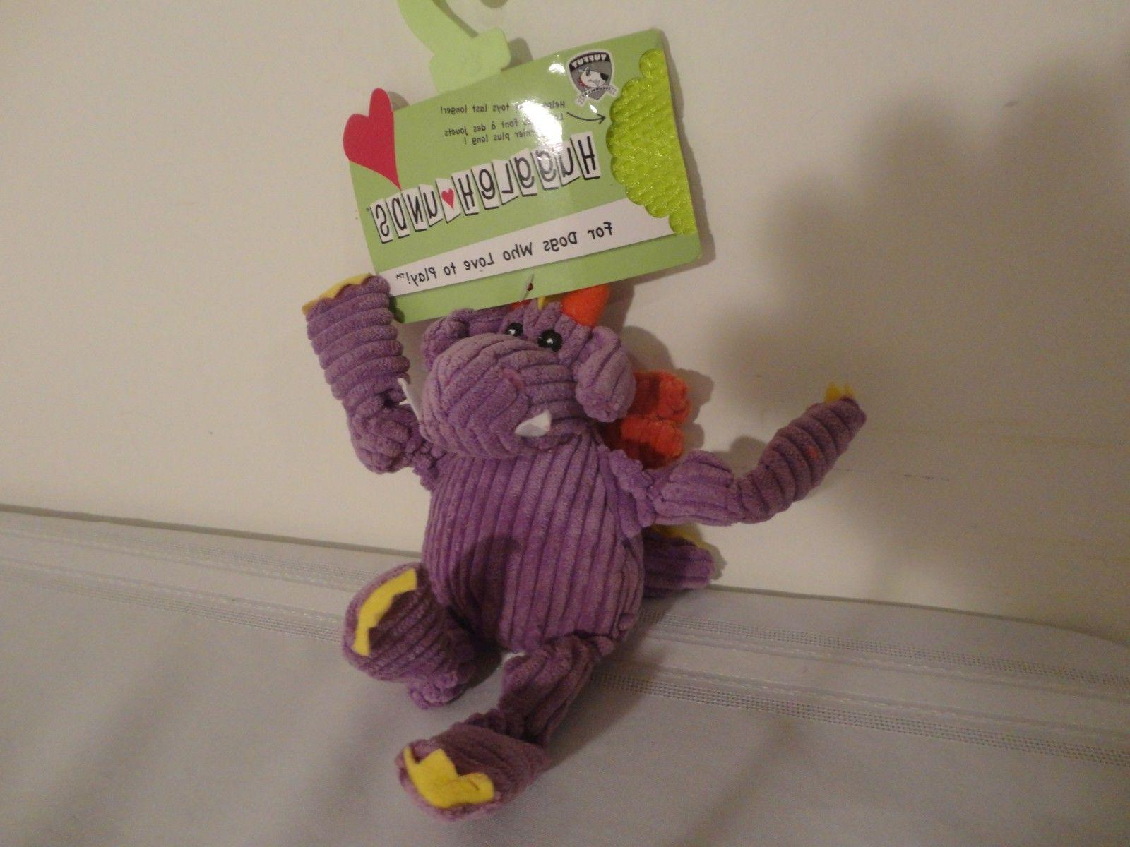 new puff the dragon dog toy knottie