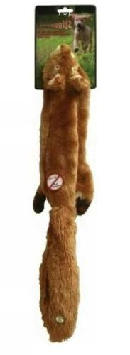 No Stuffing Squirrel, Ethical Pet Plush Skinneeez 24-Inch Do