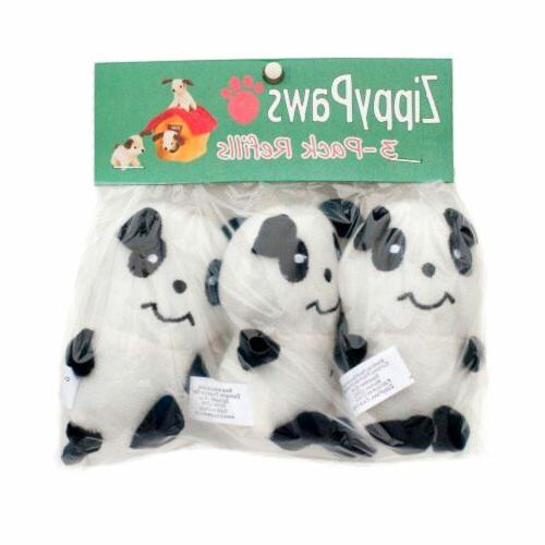 Panda Plush Squeaky 3 Pack Toys For Small Dogs Squeaker