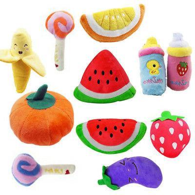 Pet Funny Puppy Squeaky Plush Fruit Sound Toys