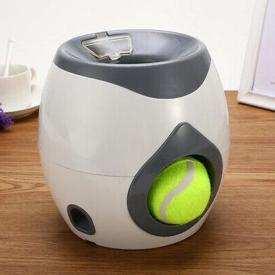 Dog Toys Automatic Tennis Ball Launcher Pet Food Dispenser F