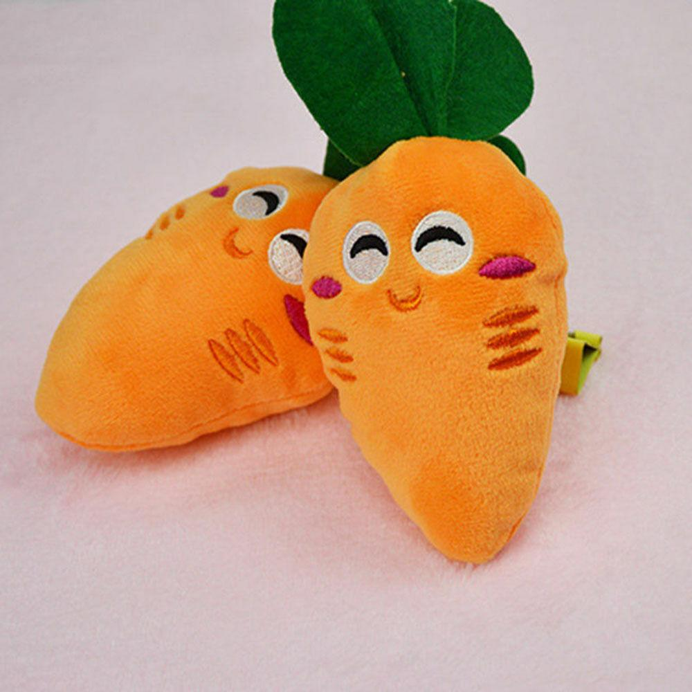 Pet Carrot Chew Squeaker Dog Toys Sound