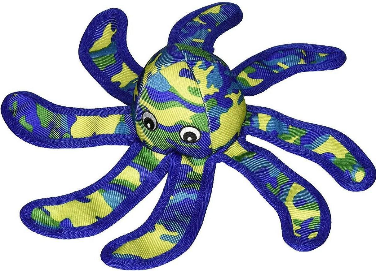 Petlou Sea Warrior Octopus Durable Plush Soft Squeak Interac