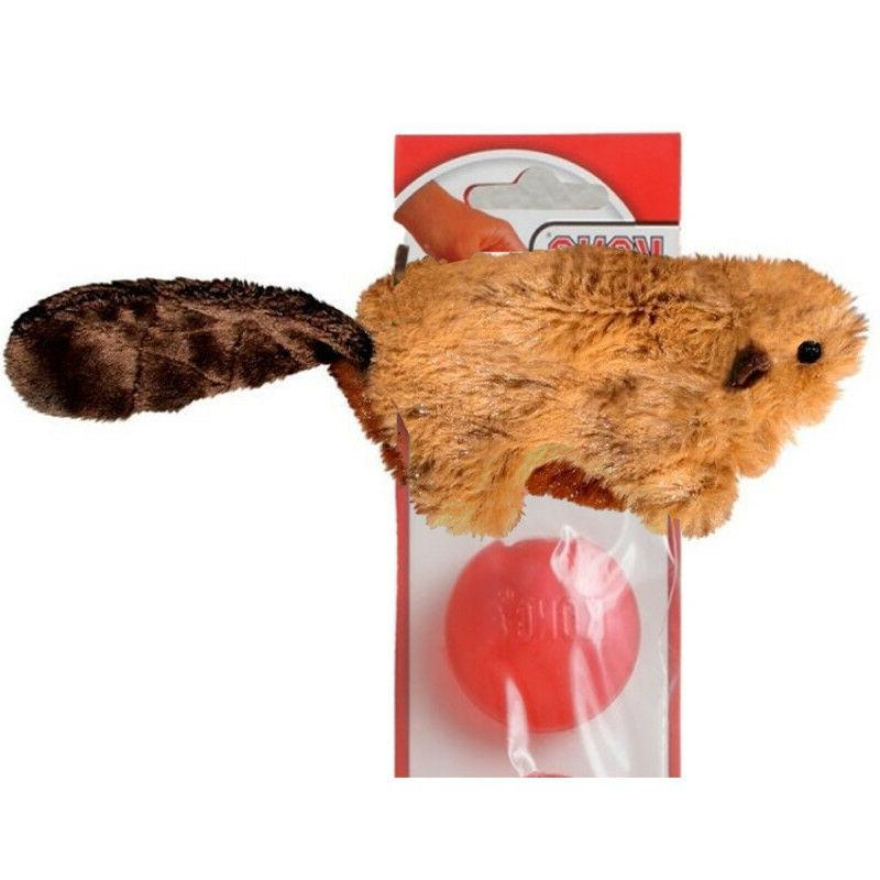 plush beaver squeaker dog toy