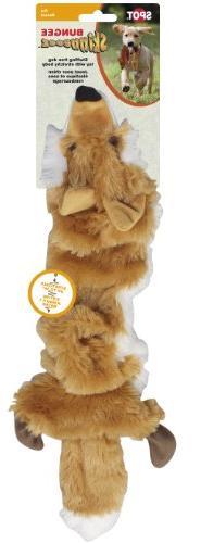 Ethical Pet Plush Skinneeez Bungee Fox Stuffingless Dog Toy