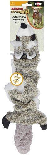 Ethical Pet Plush Skinneeez Bungee Raccoon Stuffingless Dog