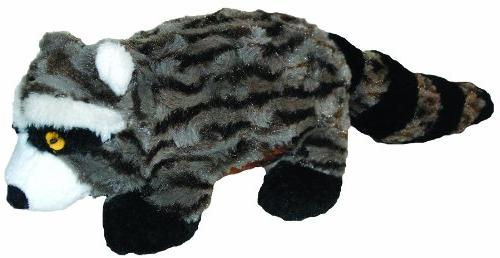 Patchwork Pet Plush Swirl Raccoon Black 15 Inch