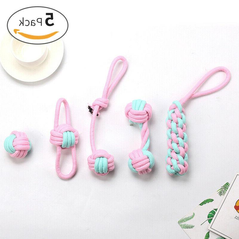 pretty chew rope dog toys for puppy