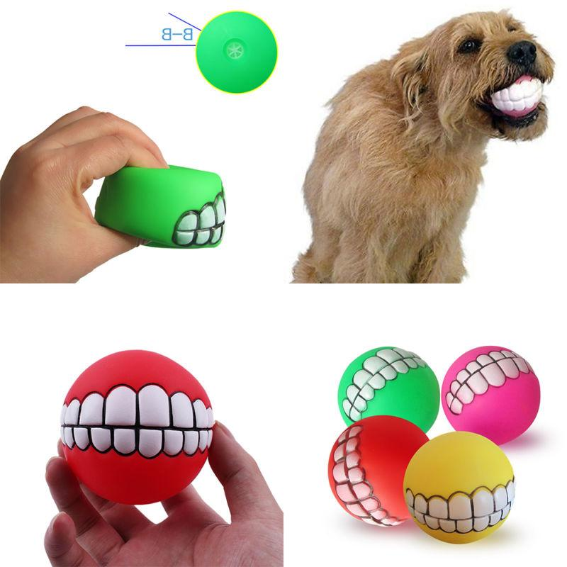 Puppy Dog Colorful Dental Teething Chew Training Play Ball Toy