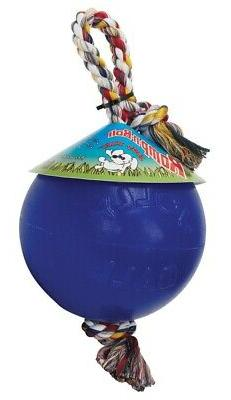 Jolly Pets Romp-n-Roll Ball and Tug for Dogs - Small - Free