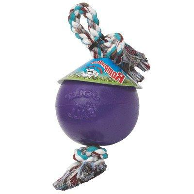 romp roll ball dog toy