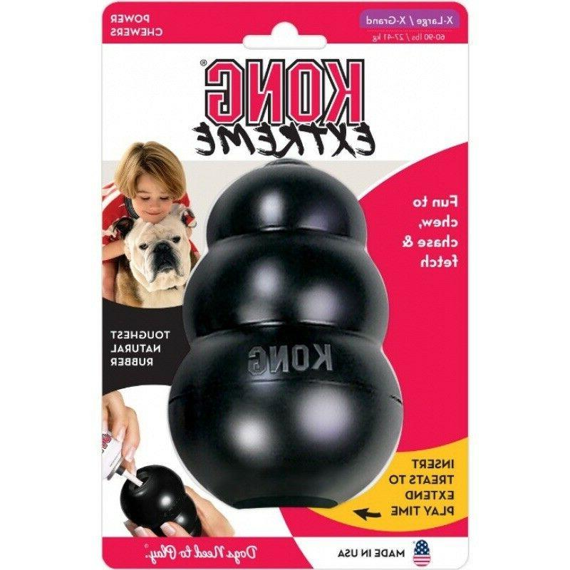 KONG Extreme Rubber Toy Snack XS Small Medium XL Black NEW