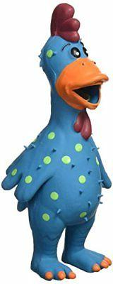 Multipet's 11.5-Inch Latex Polka Dot Globken Chicken Dog Toy