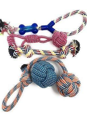 Set 8 Duty Dog Rope Teething for and Large