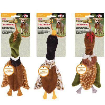 skinneeez crinklers bird dog toy