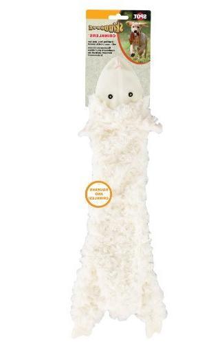 skinneeez crinklers lamb dog toy